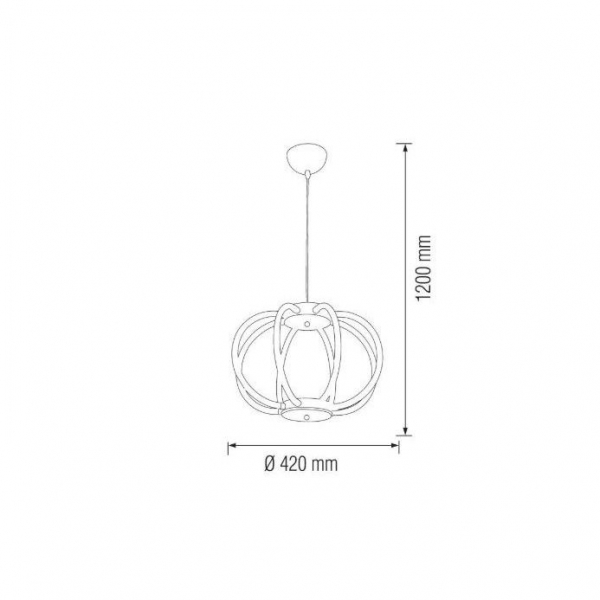 Lustra LED Pendul SLC 8 brate [1]